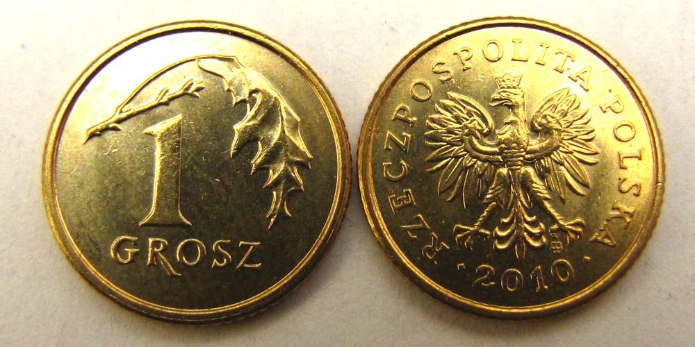 Moneta 1 grosz 2010