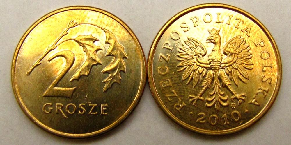 Moneta 2 grosze 2010