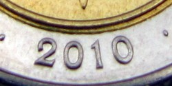 Rok 2010 na monecie 5 zł