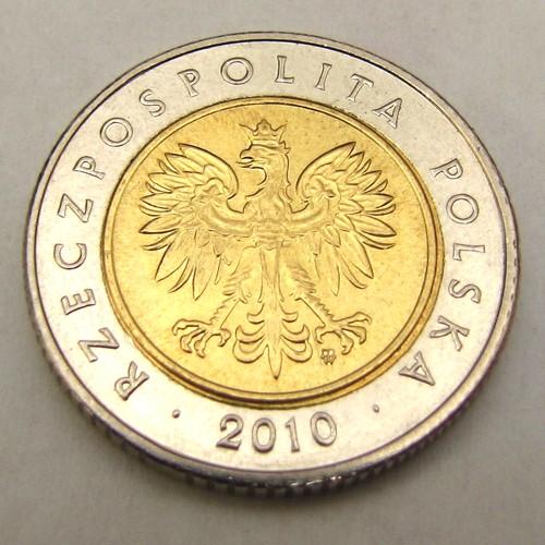 Moneta 5 złotych 2010